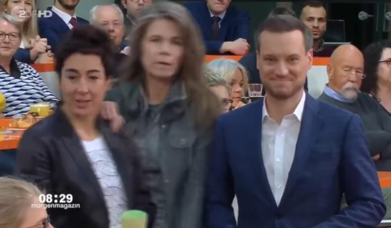 Eklat im ZDF-Morgenmagazin – Frau stürmt Bühne während Live-Sendung (Video)