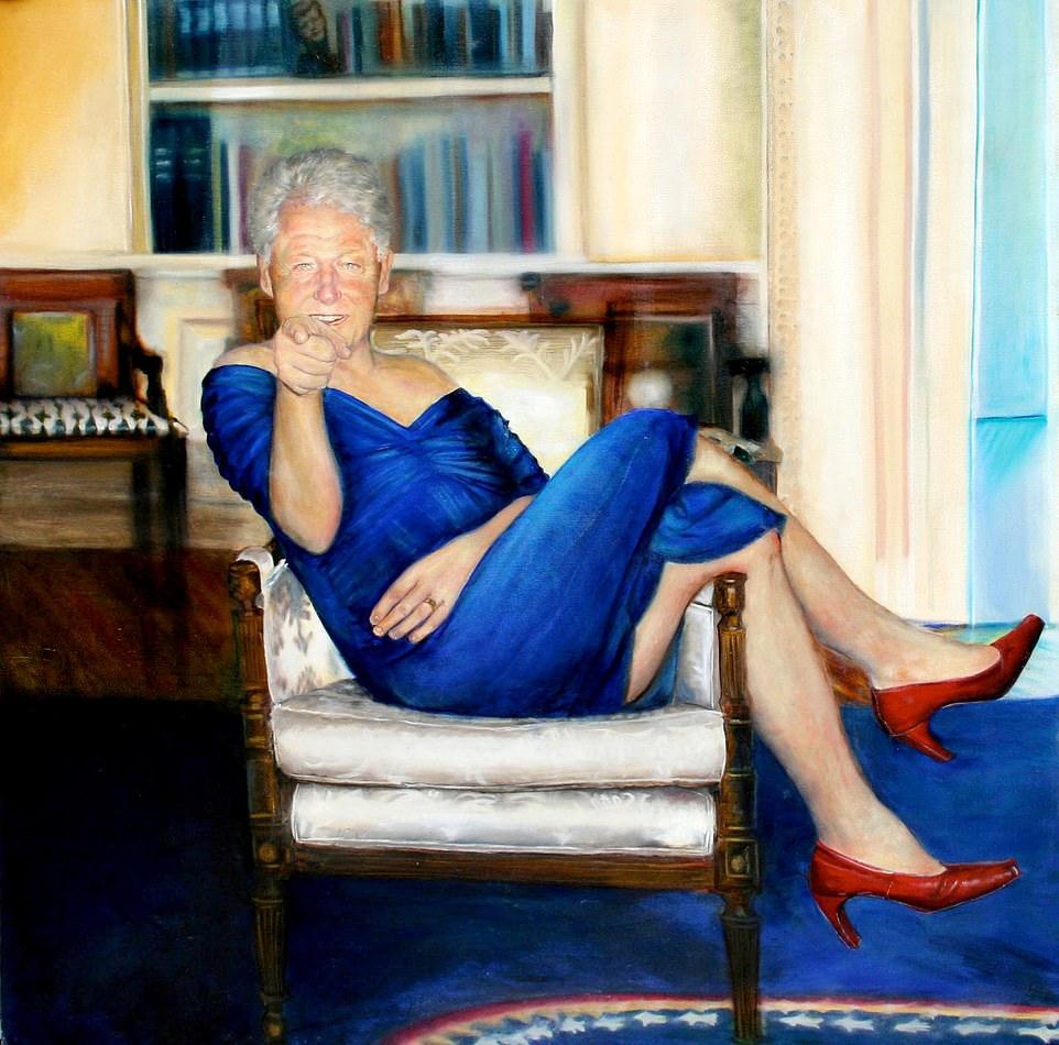 Kuriosität des Tages: In Epsteins Villa hing eigenwilliges Portrait von Bill Clinton
