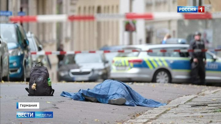 Halle und Limburg: Das russische Fernsehen über Terrorismus in Deutschland