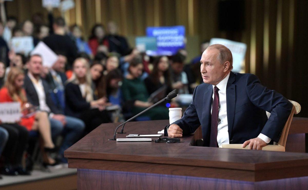 Jahrespressekonferenz: Putin im O-Ton über die Unterdrückung der Pressefreiheit im Westen