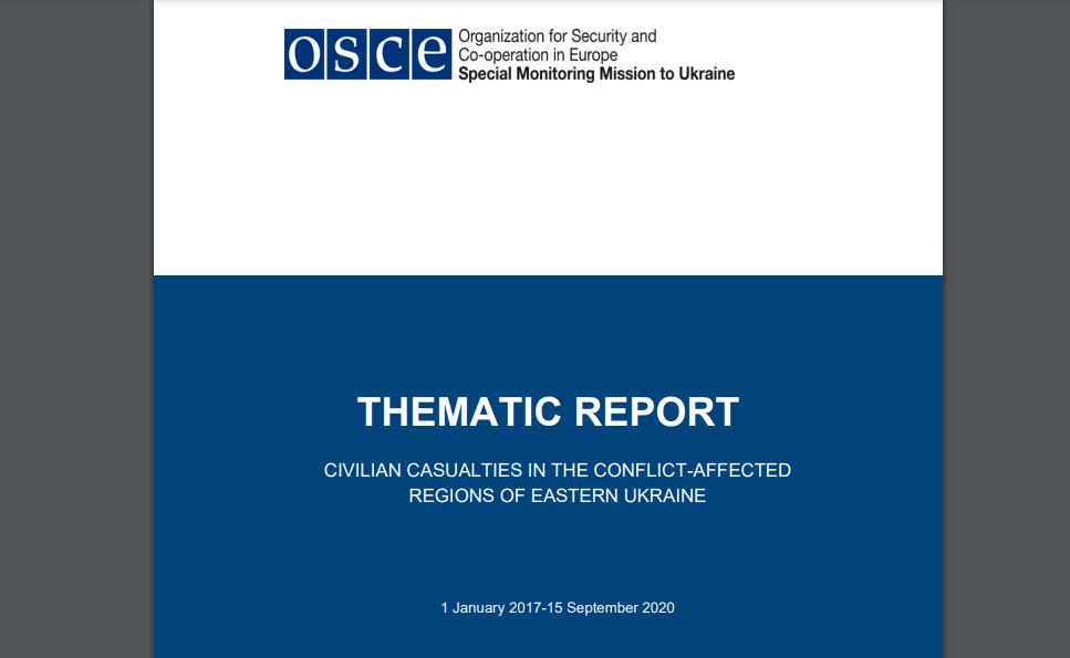 OSZE-Bericht: 75% der zivilen Opfer des Krieges in der Ukraine sind Opfer der Regierungstruppen